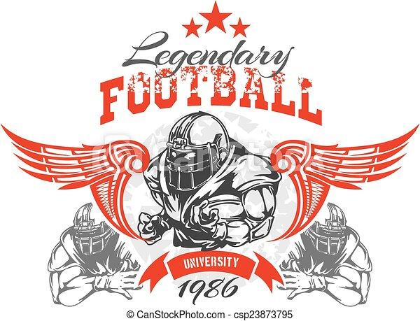 Fútbol americano, ilustración vectorial de camiseta - csp23873795