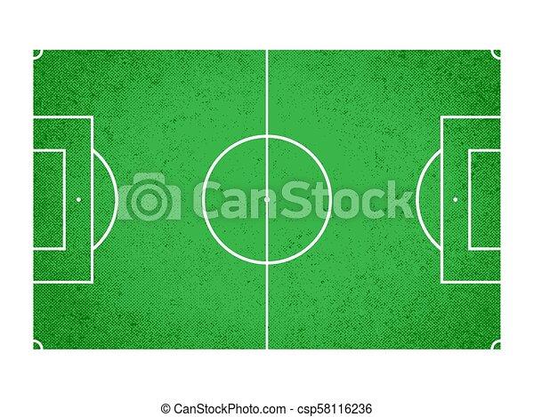 Campo de fútbol, campo de fútbol, ilustración vectorial - csp58116236