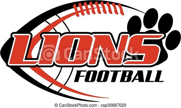 Fútbol de leones - csp30687029