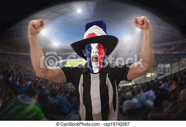 Los partidarios de fútbol - csp19742267