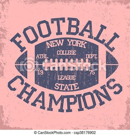Mecanografía deportiva de Nueva York, logo de fútbol - csp38176902