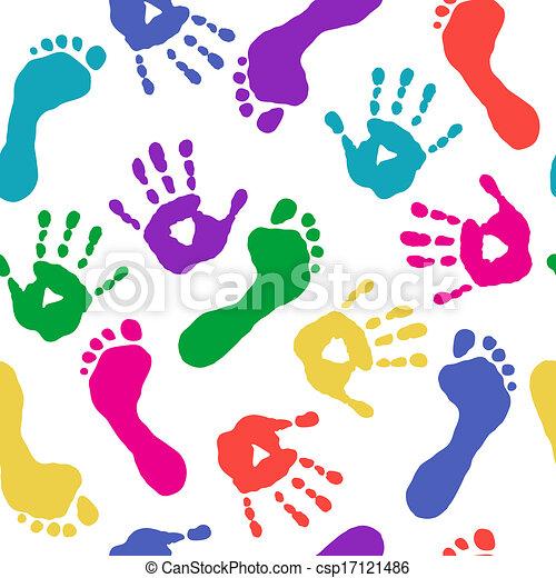 Füße, farben, drucke, hände Vektor - Suche Clipart, Illustration ...