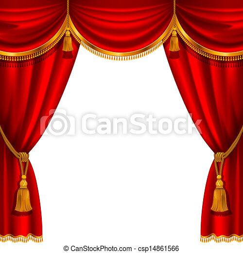 függöny, piros - csp14861566