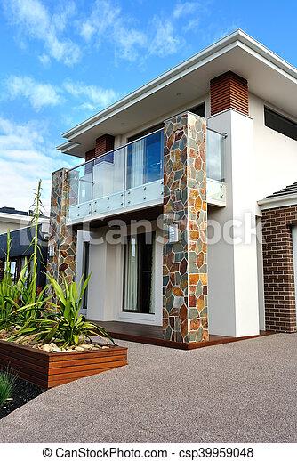 függőleges, kép, modern építészet, külső, részletek - csp39959048