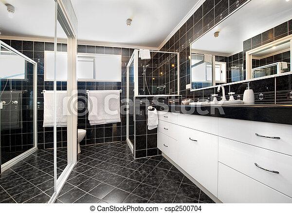 fürdőszoba, lakberendezési tárgyak - csp2500704