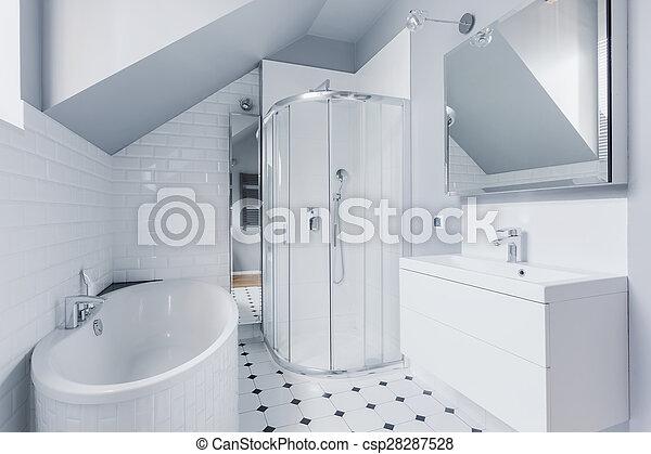 fürdőszoba, mód, klasszikus - csp28287528