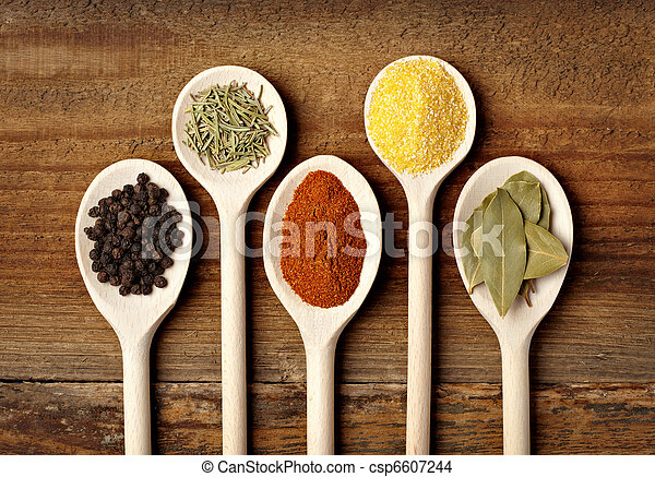 fűszerezés, élelmiszer, fűszer, alkatrészek - csp6607244