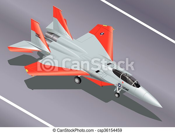 F-15 Fighter Parked Isometric - csp36154459