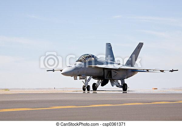 F-18 Hornet taxiing - csp0361371
