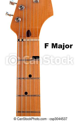 F Guitar Chord Diagram - csp3044537