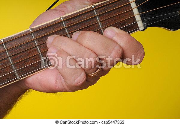 F major guitar chord. Finger position for a f major guitar chord.