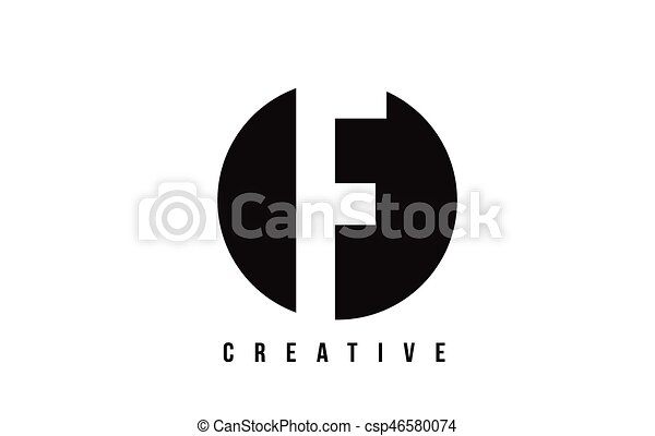 F White Letter Logo Design With Circle Background F White Letter