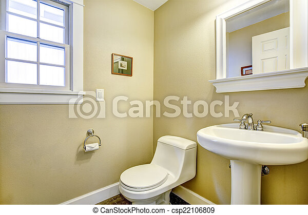 Fény, fürdőszoba, ablak, sárga. Fürdőszoba, fény, wtih,... stock ...