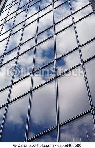 façade, bâtiment, bureau - csp59480500