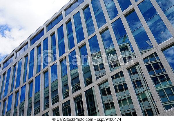 façade, bâtiment, bureau - csp59480474
