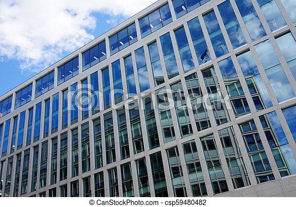 façade, bâtiment, bureau - csp59480482