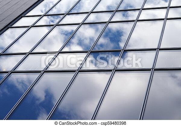 façade, bâtiment, bureau - csp59480398