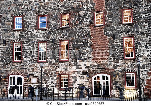 façade bâtiment, historique - csp0820657