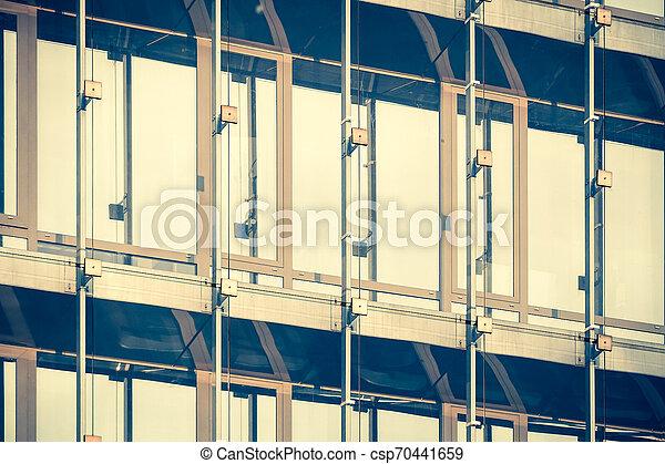 façade bâtiment, moderne, bureau - csp70441659