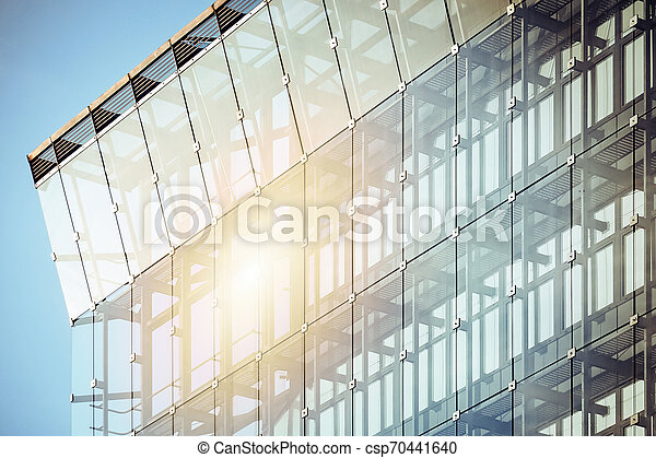 façade bâtiment, moderne, bureau - csp70441640