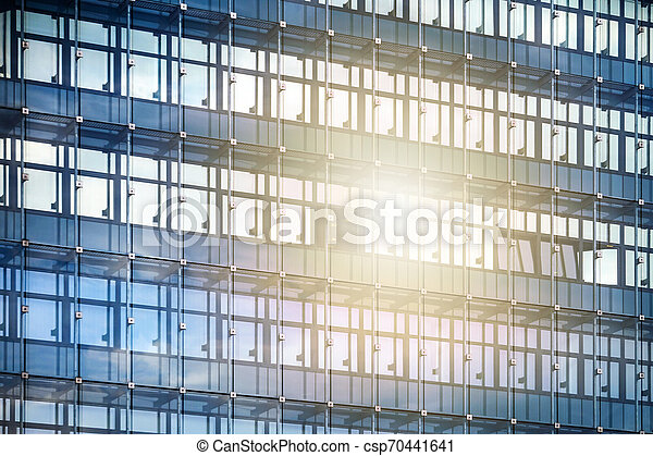 façade bâtiment, moderne, bureau - csp70441641
