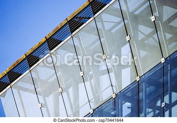 façade bâtiment, moderne, bureau - csp70441644