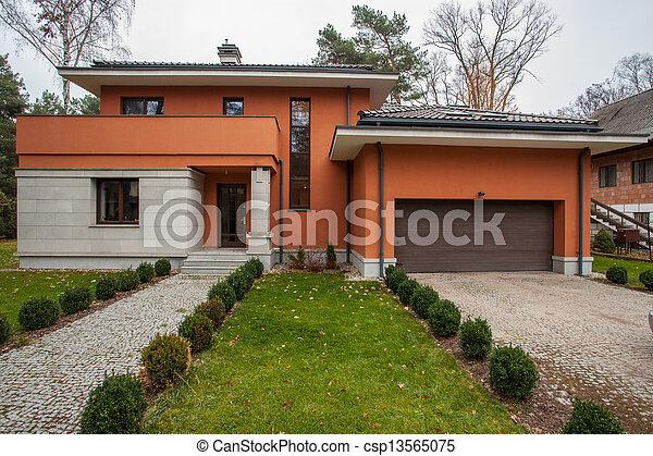 façade, maison, -, travertin - csp13565075