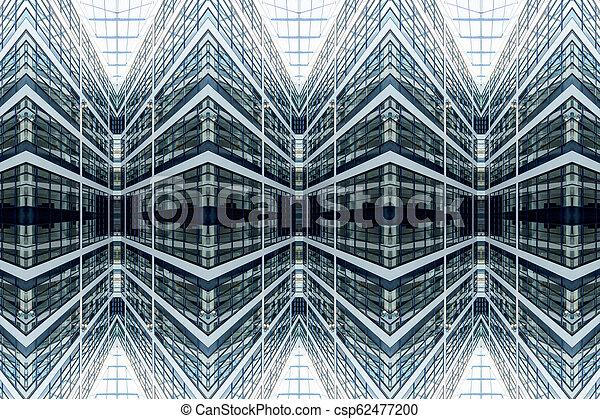 façade, modèle, vitreux, architectural, symétrie - csp62477200