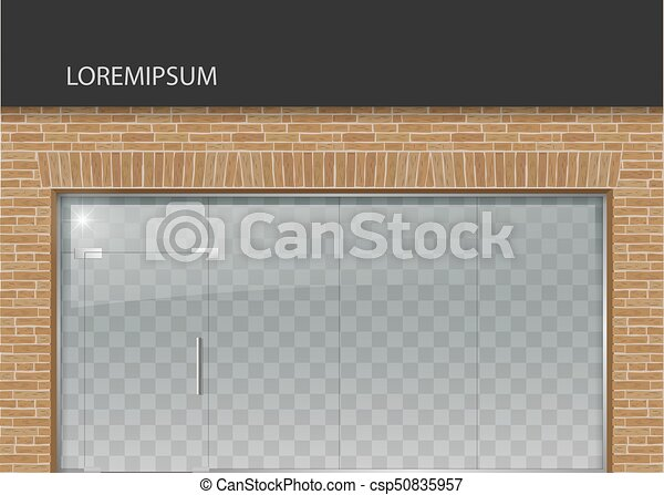 Façade verre moderne style grenier classique mur bureau