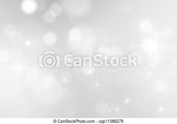 faíscas, luminoso, prata, fundo - csp11386278