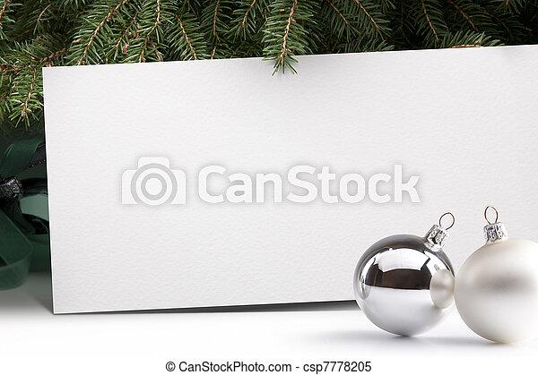 fa, háttér, karácsony - csp7778205