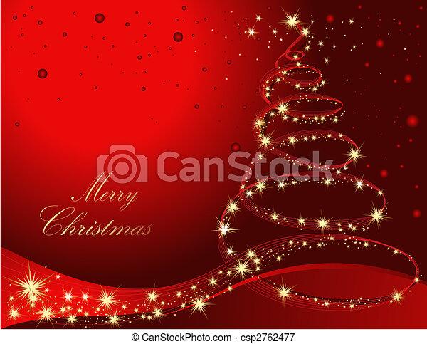 fa, karácsony - csp2762477