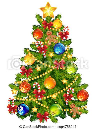 fa, karácsony - csp4755247