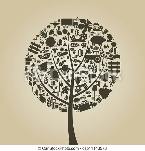 fa, mezőgazdaság - csp11143578