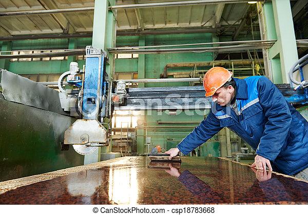 fabbricazione, granito, lavoratore - csp18783668