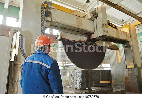 fabbricazione, granito, lavoratore - csp18783670