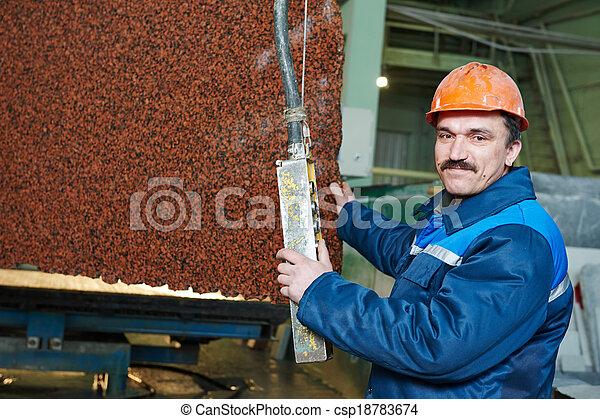 fabbricazione, granito, lavoratore - csp18783674