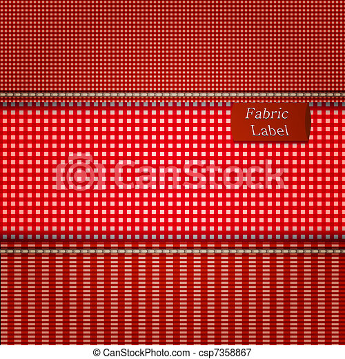 Fabric background for your design. Vector illustration - csp7358867