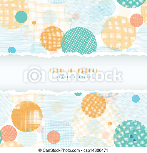 Fabric circles abstract horizontal seamless pattern background - csp14388471