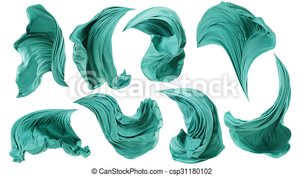 fabric cloth flowing wind textile wave flying motion white fabric