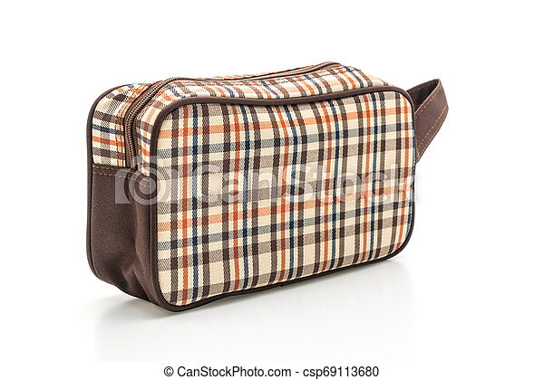 fabric hand bag on white - csp69113680