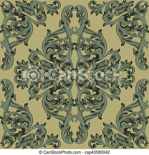 Fabric., Klassisch, Farbe, Style., Dekor, Weinlese, Königlich,