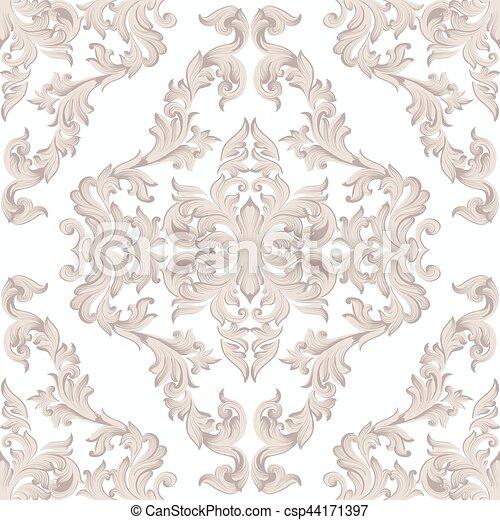 Fabric., Klassisch, Farbe, Style., Rosa, Dekor, Weinlese,