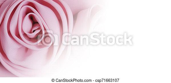 Fabric rose flower on white background - csp71663107