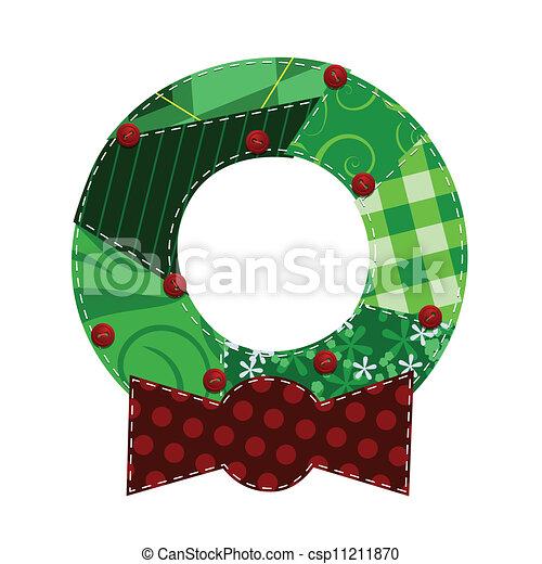 Fabric Wreath - csp11211870