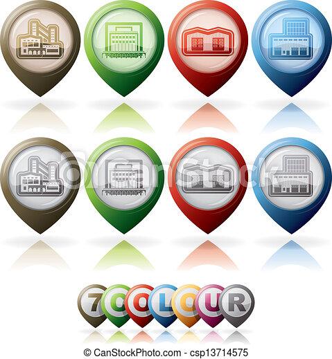 fabryka, icons:, przemysł - csp13714575