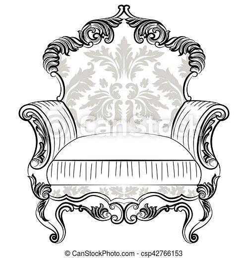 Fabulous Imperial Baroque armchair - csp42766153