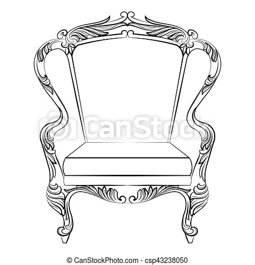 Fabulous Rich Baroque Rococo Armchair - csp43238050