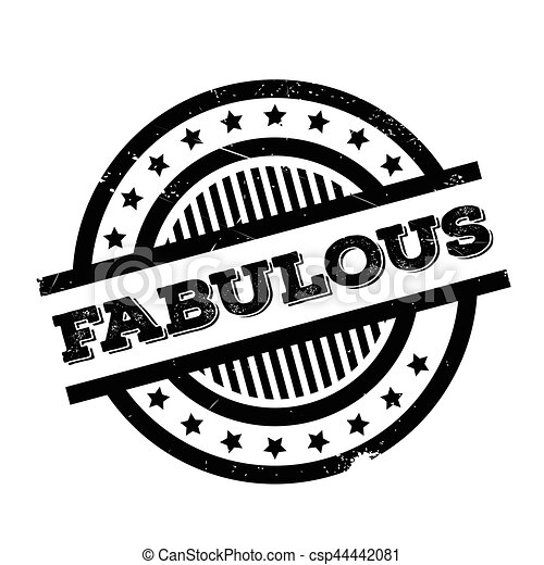 Fabulous rubber stamp - csp44442081