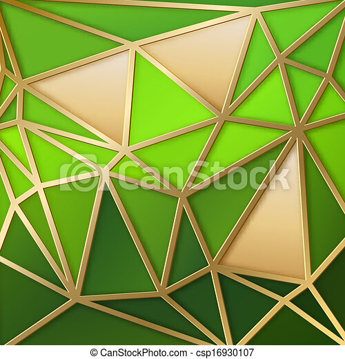 Fabulous triangles in gold. - csp16930107